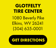 Glotfelty Tire Center in Elkins, WV